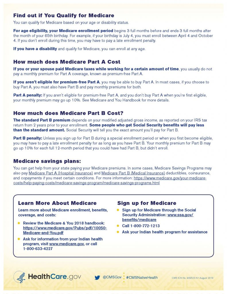 How To Get Medicare Infographic 2 of 2